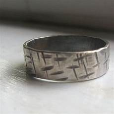 mens wedding band rustic ring