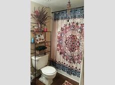 Hippie/Bohemian bathroom in small apartment in 2019