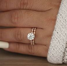 wedding ring moissanite rose gold engagement ring