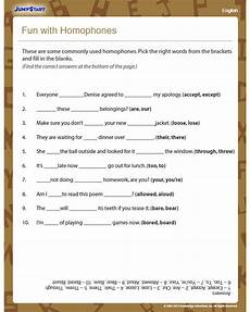 fun with homophones view english worksheet 3rd grade jumpstart