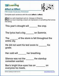 affect or effect in sentences k5 learning