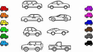 Car Colouring Pages Vehicles Book Video For