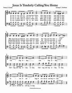 free choir sheet music jesus is tenderly calling you home