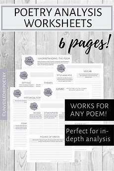 poetry analysis worksheet doc 25511 poetry analysis worksheets critical thinking skills reading activities poetry
