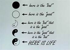 Malvorlagen Yin Yang Quotes Aliexpress Buy Yin Yang Here Is Quote Vinyl