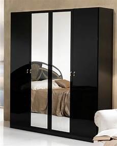 armoire chambre à coucher armoire 4 portes athena chambre a coucher noir