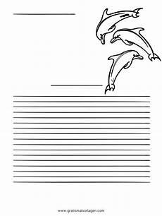 Malvorlagen Delfin Quest Briefpapier Delfin Gratis Malvorlage In Spiele Urkunde