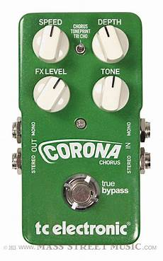 Tc Electronic Corona Chorus Guitar Effects Pedal Mass