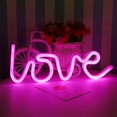 led love neon light white