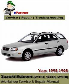 free online auto service manuals 1995 suzuki esteem parking system suzuki esteem service repair manual 1995 1998 automotive