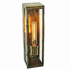 rectangular outdoor wall light finish with vintage bulb