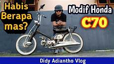 Modifikasi Honda C70 Chopper by Modif Honda C70 Custom Chopper Choppy Cub