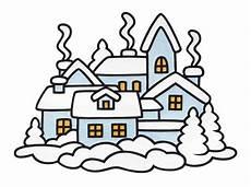 Malvorlagen Winter Weihnachten Ostern Fensterbild Quot Winterstadt Quot Bastelvorlagen Mit Anleitung