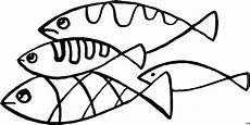 vier fische verschieden muster ausmalbild malvorlage tiere