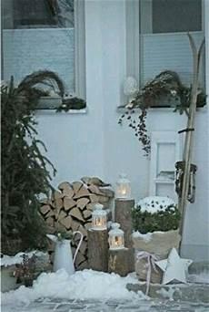 winterparty im garten święta deko winter weihnachten deko