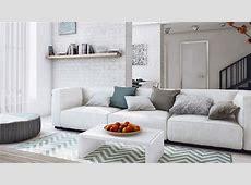 15 Modern White and Gray Living Room Ideas   Home Design Lover