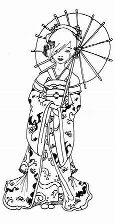 Malvorlagen Japanese Geisha Coloring Pages Da Ara Japanese Drawings