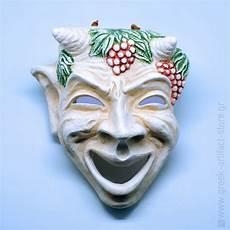 greek masks comedy ceramic handmade theatrical mask 24cm 9 44 tall greek artifact store