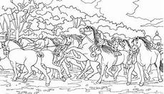 of horses coloring page netart