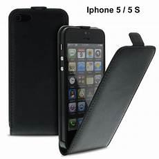 iphone 5 leder tasche h 252 lle handytasche flip schwarz