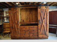 X barn door entertainment cabinet   Furniture From The Barn