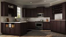 shaker specialty kitchen cabinets in java kitchen the home depot