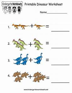 free printable dinosaur worksheet for kindergarten
