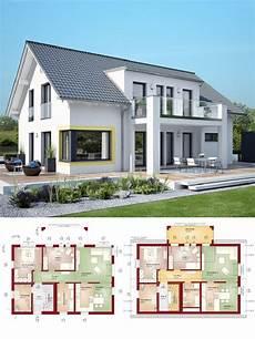 haus bauen ideen modernes zweifamilienhaus mit einliegerwohnung satteldach architektur haus bauen grundriss