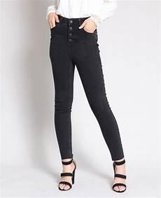 jean taille haute noir 140656899a08 pimkie