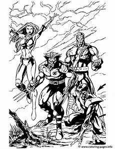 x wolverine and team coloring pages printable
