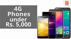 best 4g mobile phones 5 000 rs india may 2016