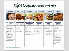 Comfort Food Favorites WW Friendly Meal Plan #23 with