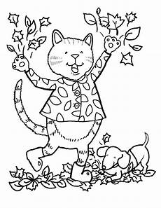 Ausmalbilder Herbst Blatt Fall Coloring Pages To And Print For Free