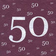 servietten 80 geburtstag servietten 50 geburtstag mit pr 228 gung 20 st 252 ck 3 lagig