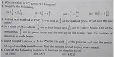 apsg class 7 revision worksheet fractions and decimals