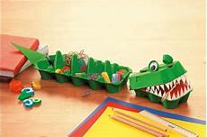 Upcycling Krokodil Aus Eierkartons Eierkartons