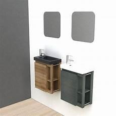 meuble lave mains avec miroir noir l 22 5 x p 40 x h 48