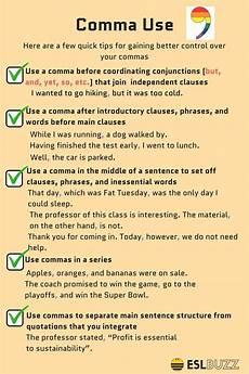 how to use commas correctly english writing english grammar rules writing words