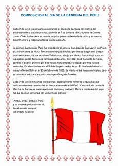 composicion al dia de la bandera del peru