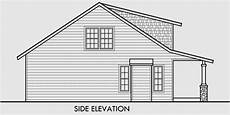 side view house plans bungalow house plans 1 5 story house plans 10128