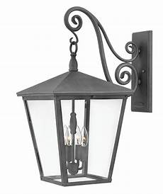 hinkley lighting 1438dz ll trellis 4 led light extra large outdoor wall in aged zinc with