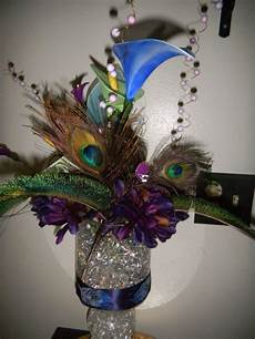peacock centerpiece completed weddingbee photo gallery