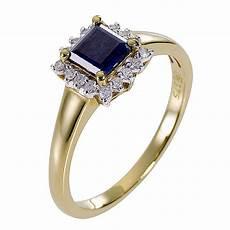9ct yellow gold diamond sapphire ring h samuel