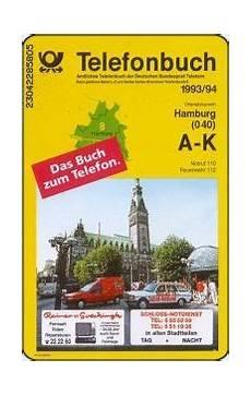 Phonecard Postreklame Telefonbuch Hamburg Deutsche