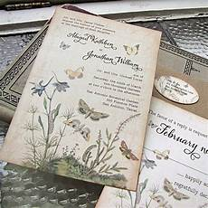 Vintage Wedding Invitations Etsy vintage wedding invitation botanical by sunshineandravioli