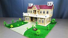 how to make a beautiful mansion house from cardboard step