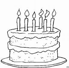 Kinder Malvorlagen Torte Torte Mit Sechs Kerzen Ausmalbild Malvorlage Gemischt