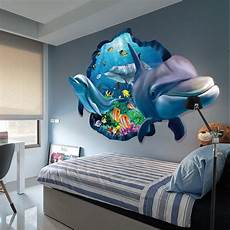 3d Wall Sticker Dolphin Removable Vinyl Decal