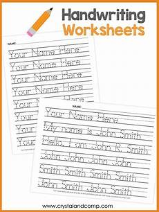 handwriting worksheets with child s name 21632 handwriting worksheets for you can customize and edit crystalandcomp