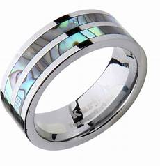 mens wedding band ring tungsten carbide modern abalone shell inlay comfort fit ebay
